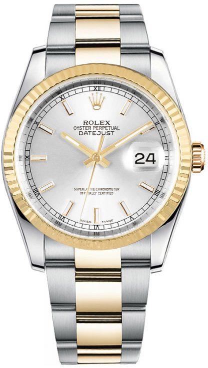 replique Montre Homme Rolex Datejust 36 Cadran Argent Oyster Bracelet 116233