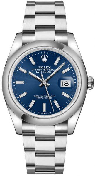 replique Montre Homme Rolex Datejust 36 Cadran Bleu Index Marqueurs Heure 126200