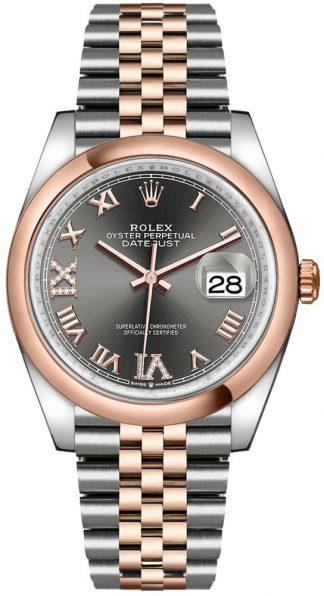 replique Montre Homme Rolex Datejust 36 Cadran Gris Rhodium Foncé 126201