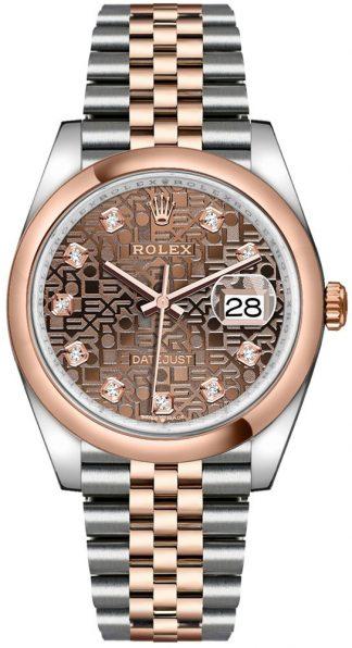 replique Montre Homme Rolex Datejust 36 Cadran Jubilé Chocolat 126201