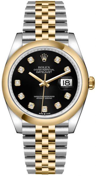 replique Montre Homme Rolex Datejust 36 Cadran Noir Diamants 126203