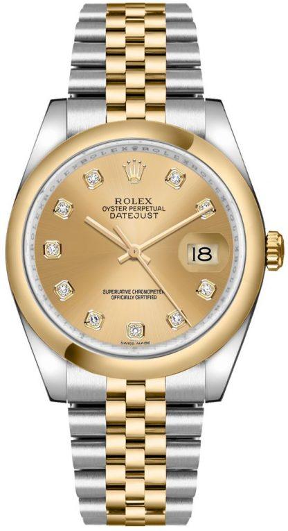 replique Montre Homme Rolex Datejust 36 Champagne Diamond Dial 116203