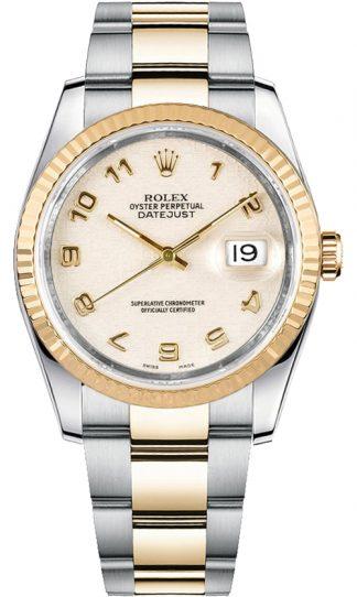 replique Montre Homme Rolex Datejust 36 Ivory Dial 116233
