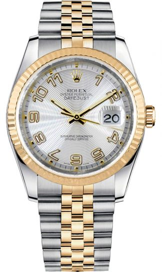 replique Montre Homme Rolex Datejust 36 Jubilee Bracelet Cadran Argent 116233