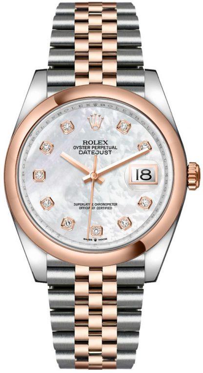 replique Montre Homme Rolex Datejust 36 Nacre Diamants 126201