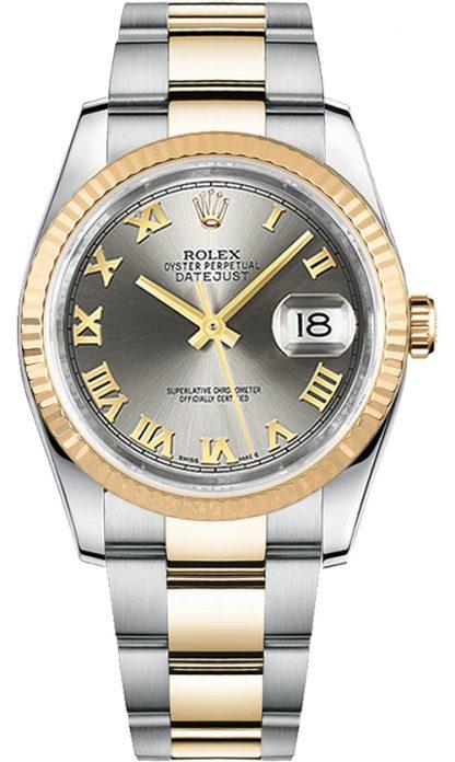 replique Montre Homme Rolex Datejust 36 Oyster Bracelet Acier & Or 116233