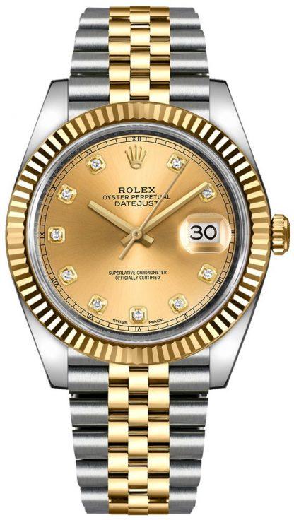 replique Montre Homme Rolex Datejust 41 Acier & Or Jaune 126333