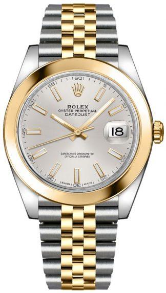 replique Montre Homme Rolex Datejust 41 Cadran Argent 126303