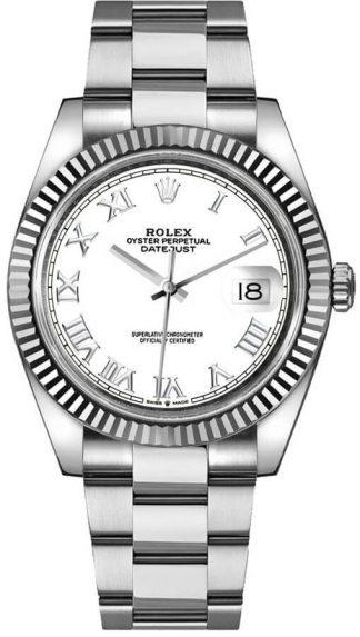 replique Montre Homme Rolex Datejust 41 Cadran Blanc Oyster Bracelet 126334