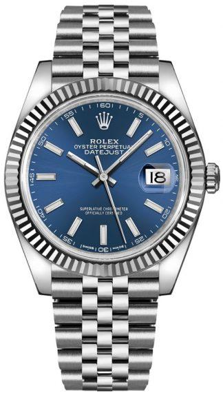 replique Montre Homme Rolex Datejust 41 Cadran Bleu 126334