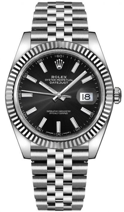 replique Montre Homme Rolex Datejust 41 Cadran Noir 126334