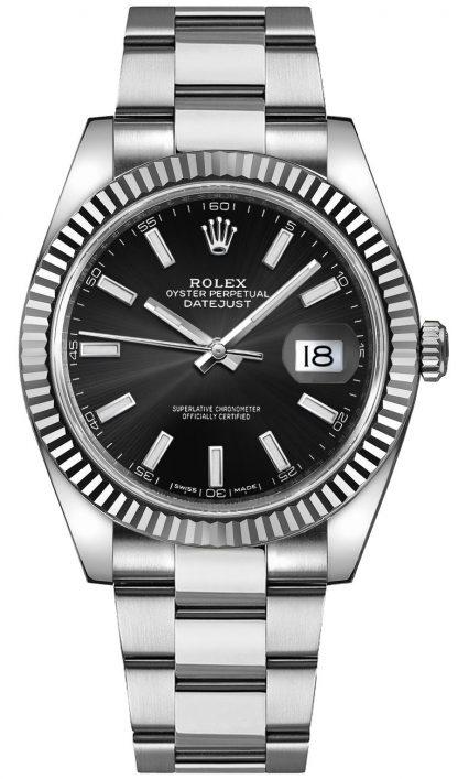 replique Montre Homme Rolex Datejust 41 Cadran Noir Oyster Bracelet 126334