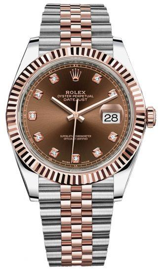 replique Montre Homme Rolex Datejust 41 Diamond Dial 126331