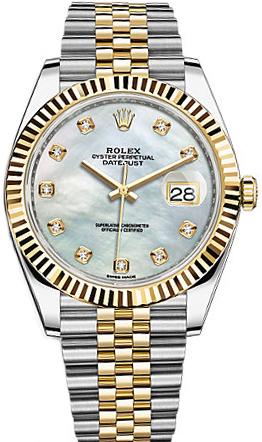 replique Montre Homme Rolex Datejust 41 Nacre Cadran Diamant 126333