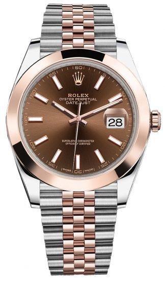 replique Montre Homme Rolex Datejust 41 Or et Acier 126301