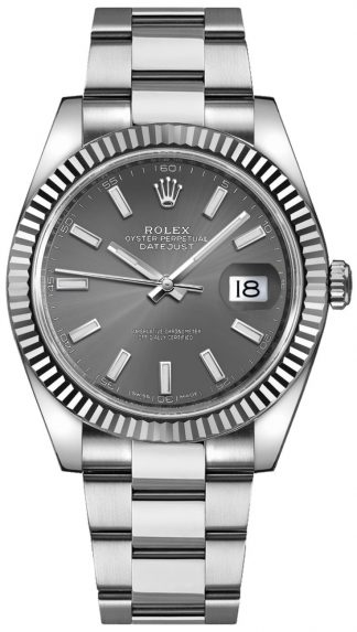 replique Montre Homme Rolex Datejust 41 Oystersteel Rhodium 126334