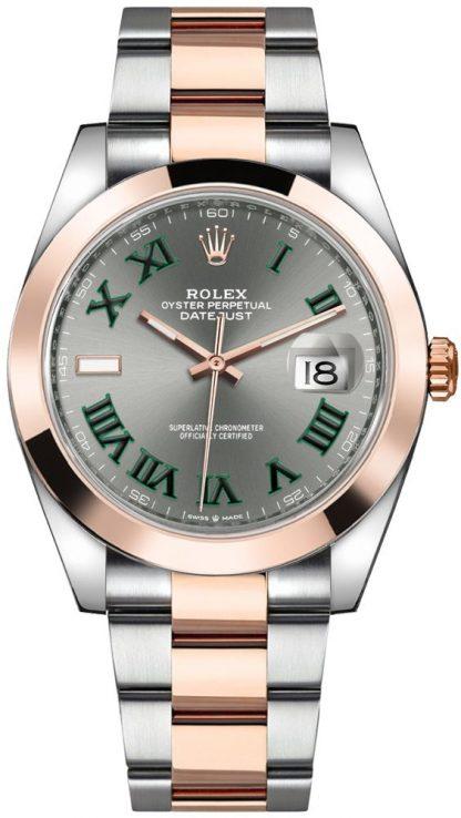 replique Montre Homme Rolex Datejust 41 Slate Grey Dial 126301