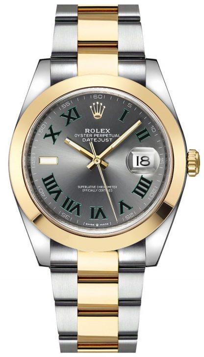 replique Montre Homme Rolex Datejust 41 Wimbledon Dial 126303