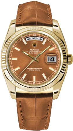 replique Montre Homme Rolex Day-Date 36 Gold Case 118138