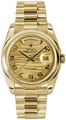 replique Montre Homme Rolex Day-Date 36 Luxury Solid Gold 118208