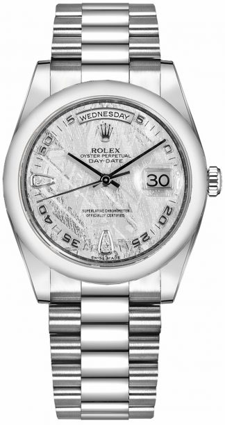replique Montre Homme Rolex Day-Date 36 Solid Or Blanc 18K 118209