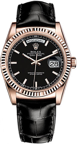 replique Montre Homme Rolex Day-Date 36 Solide Or Rose 18K 118135