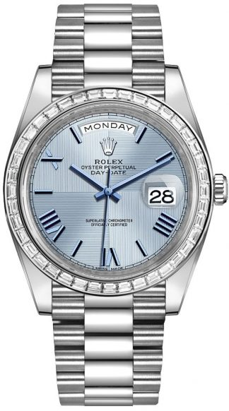 replique Montre Homme Rolex Day-Date 40 Ice Blue Dial 228396TBR