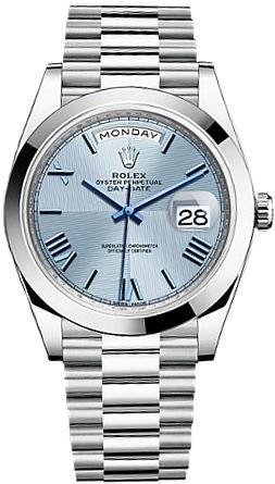 replique Montre Homme Rolex Day-Date 40 Platine 228206