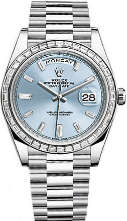 replique Montre Homme Rolex Day-Date 40 Platine 228396TBR