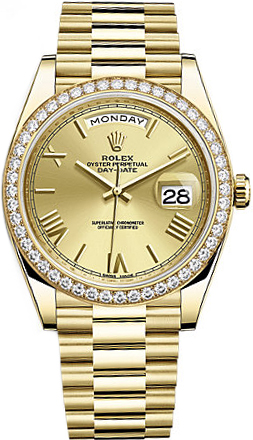 replique Montre Homme Rolex Day-Date 40 Solid Or Jaune 18K 228348RBR