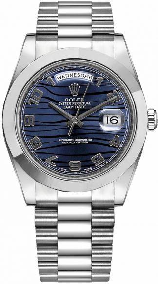 replique Montre Homme Rolex Day-Date 41 Platinum President Bracelet 218206