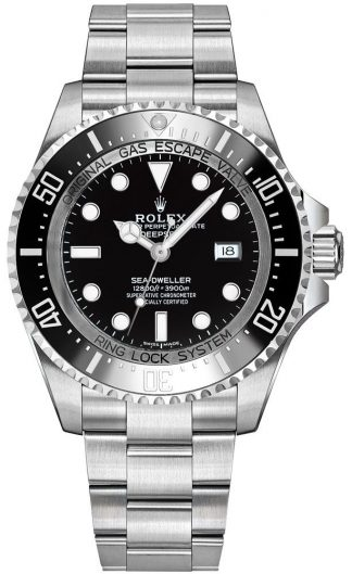 replique Montre Homme Rolex Deepsea Cadran Noir 116660