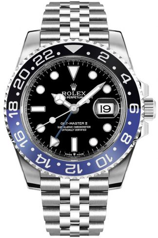 replique Montre Homme Rolex GMT-Master II Batman Jubilee 126710BLNR