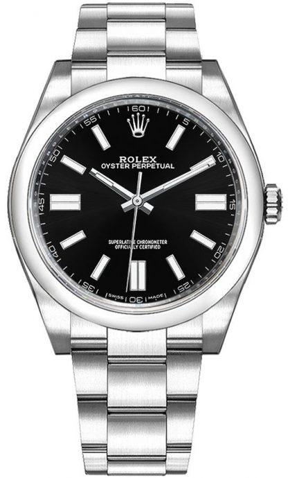 replique Montre Homme Rolex Oyster Perpetual 36 Cadran Noir 116000