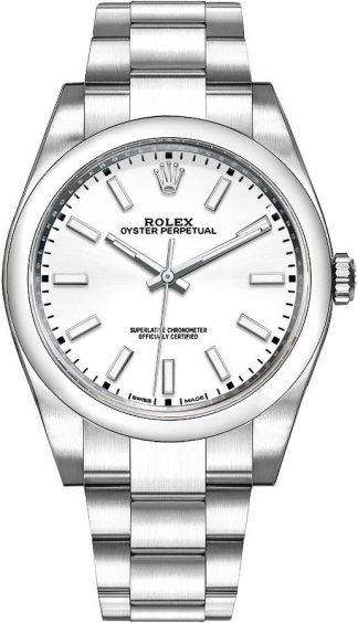 replique Montre Homme Rolex Oyster Perpetual 39 Cadran Blanc 114300