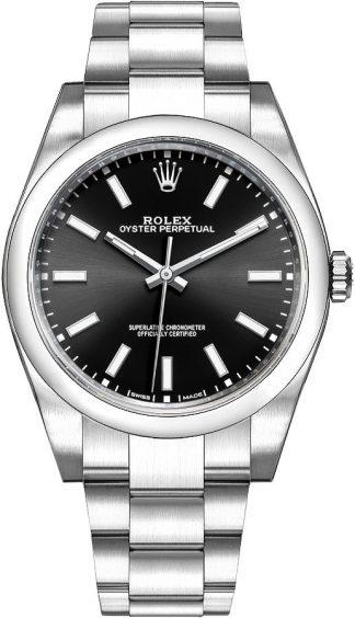 replique Montre Homme Rolex Oyster Perpetual 39 Cadran Noir 114300