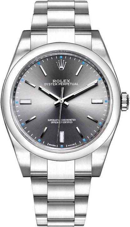replique Montre Homme Rolex Oyster Perpetual 39 Dark Rhodium 114300