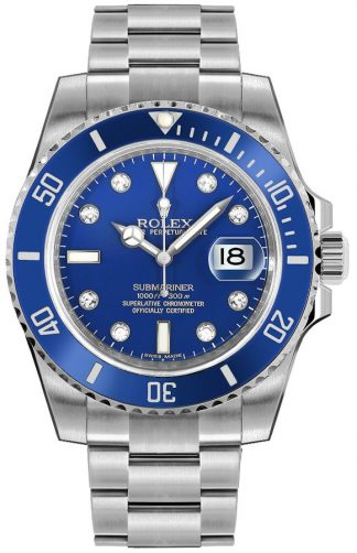 replique Montre Homme Rolex Submariner Date Blue Diamond 116619