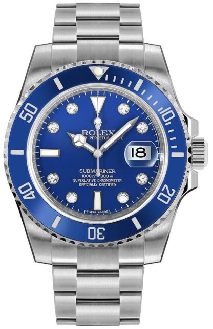 replique Montre Homme Rolex Submariner Date Blue Diamond 116619