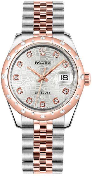 replique Montre Rolex Datejust 31 Silver Jubilee Diamond Two Tone 178341