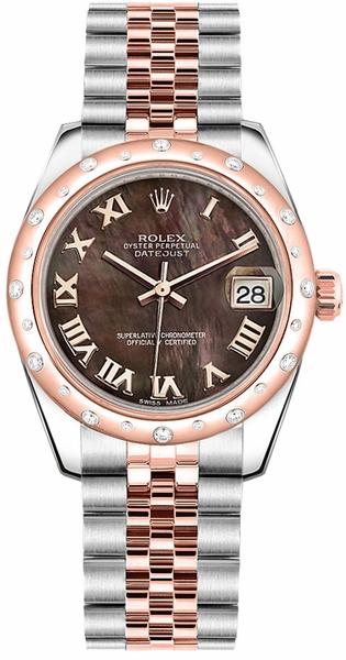 replique Montre Rolex Datejust 31 automatique en or rose et acier 178341