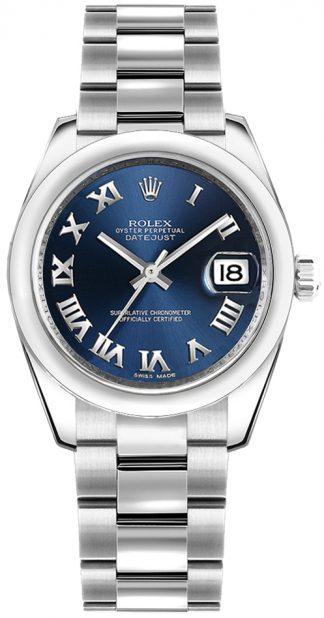 replique Montre Rolex Datejust 31 cadran bleu en acier 178240