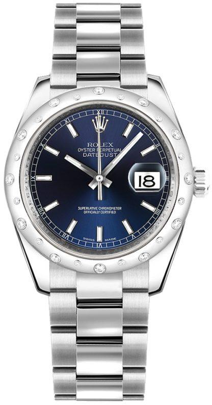 replique Montre Rolex Datejust 31 cadran bleu or blanc et acier 178344