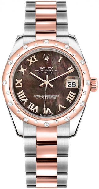 replique Montre Rolex Datejust 31 cadran nacre noire 178341