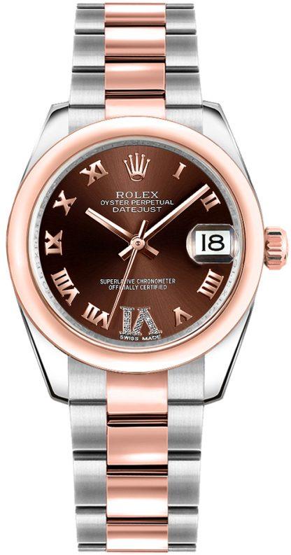 replique Montre Rolex Datejust 31 en acier et or rose 178241