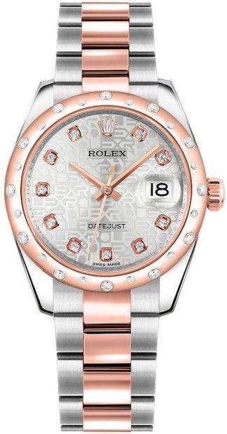 replique Montre Rolex Datejust 31 en acier inoxydable et or rose 178341