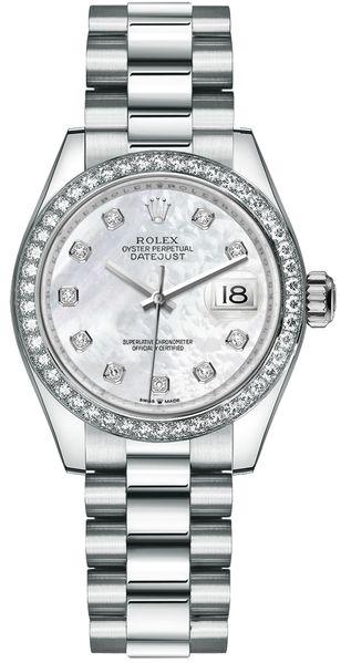 replique Montre Rolex Datejust 31 en or blanc 278289RBR