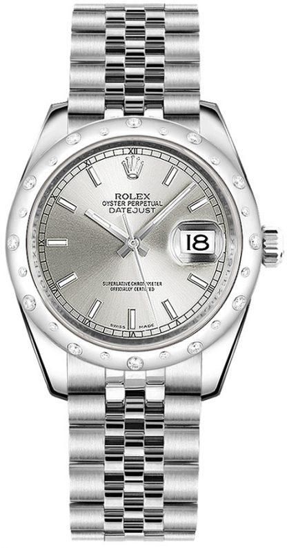 replique Montre Rolex Datejust 31 en or blanc et acier 178344