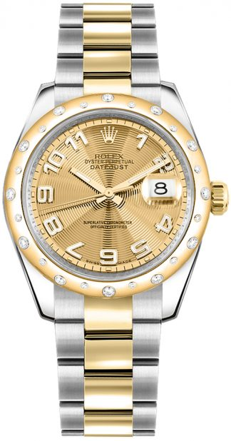 replique Montre Rolex Datejust 31 en or jaune et acier inoxydable 178343