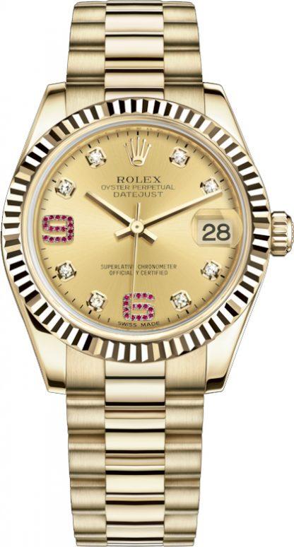 replique Montre Rolex Datejust 31 en or massif 178278